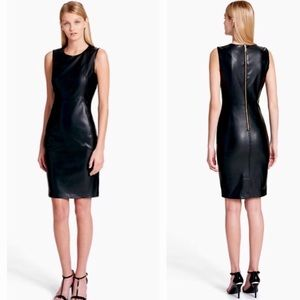 CALVIN KLEIN | dress faux leather sheath